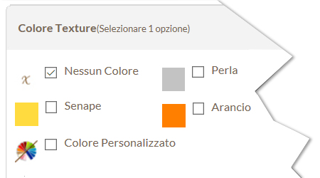 Combinazioni Colore Texture