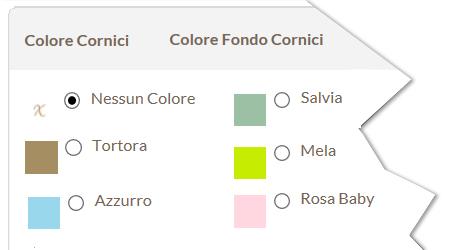 Combinazioni Colore Cornice e Fondo