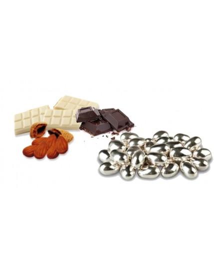Confetti Mandorla Cioccolato Argentata