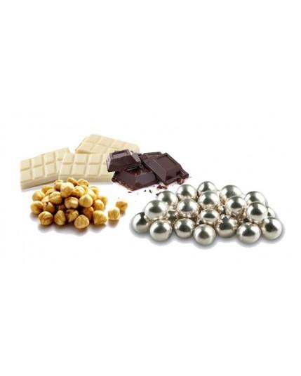 Confetti Nocciola Cioccolato Argentata Lucida