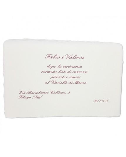 Invito Rettangolare Amalfi