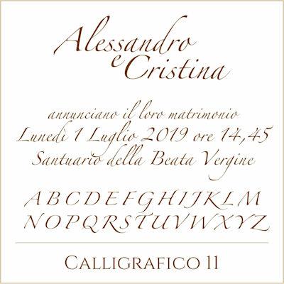 Carattere Calligrafico 11