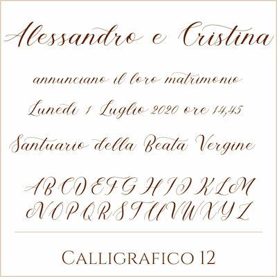 Carattere Calligrafico 12