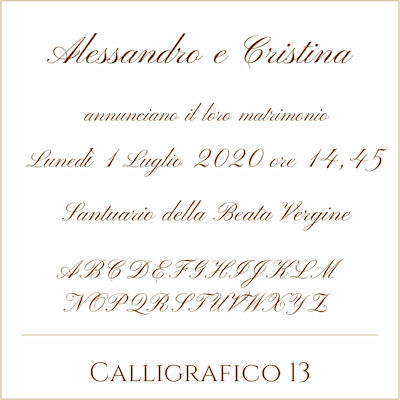 Carattere Calligrafico 13
