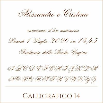 Carattere Calligrafico 14