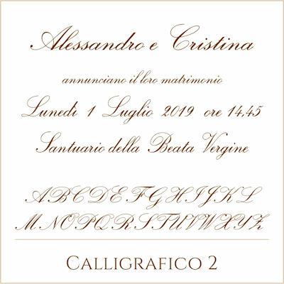Carattere Calligrafico 2