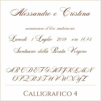 Carattere Calligrafico 4