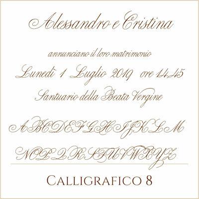 Carattere Calligrafico 8