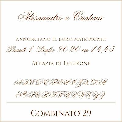 Carattere Combinato 29