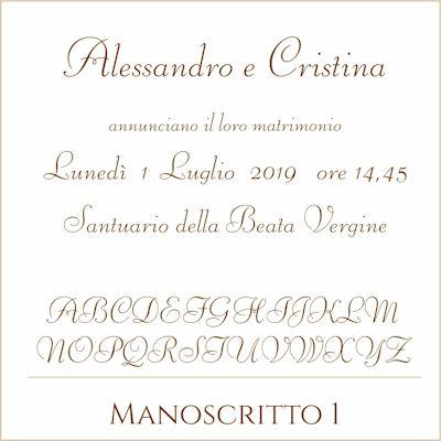 Carattere Manoscritto 1