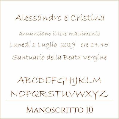 Carattere Manoscritto 10