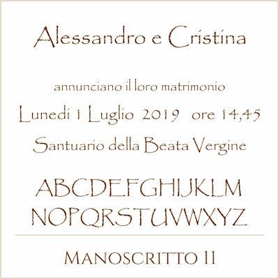 Carattere Manoscritto 11