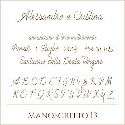 Carattere Manoscritto 13