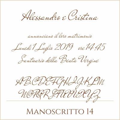 Carattere Manoscritto 14