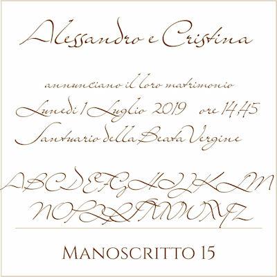 Carattere Manoscritto 15