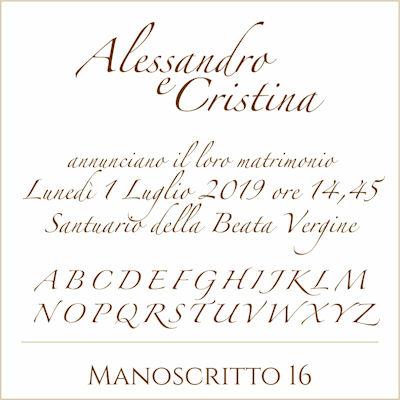 Carattere Manoscritto 16