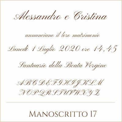 Carattere Manoscritto 17