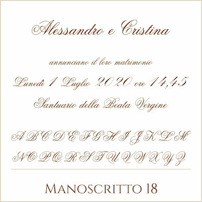 Carattere Manoscritto 18