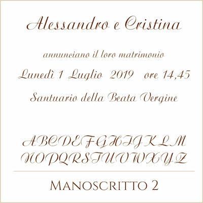 Carattere Manoscritto 2