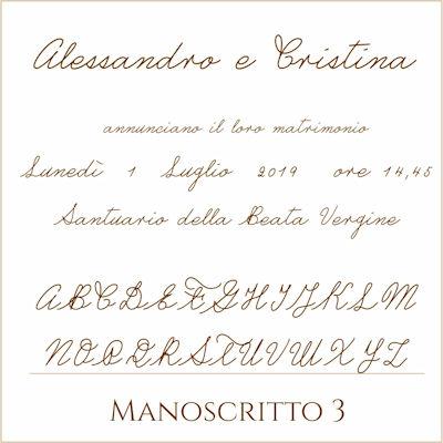 Carattere Manoscritto 3