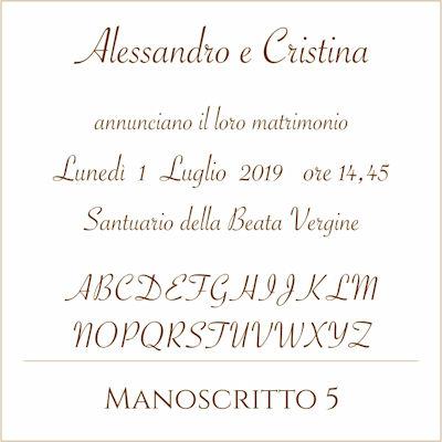 Carattere Manoscritto 5