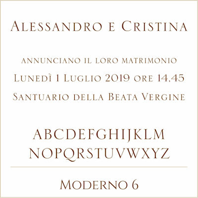 Carattere Moderno 6