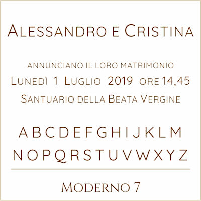 Carattere Moderno 7