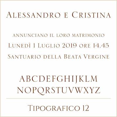 Carattere Tipografico 12
