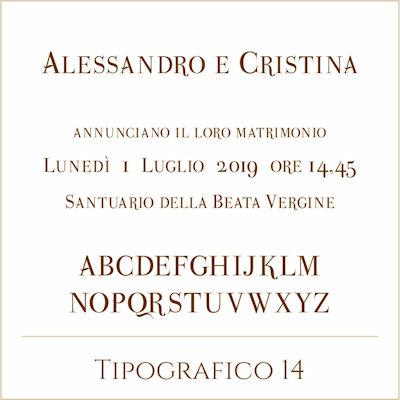 Carattere Tipografico 14