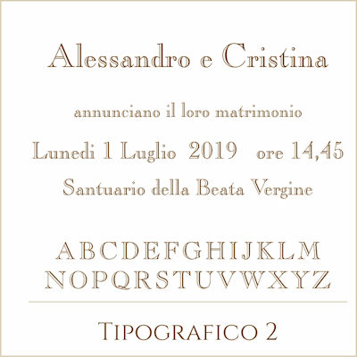 Carattere Tipografico 2