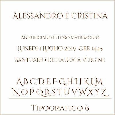 Carattere Tipografico 6